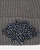 Bonnet gris anthracite détails bijou tiare anthracite.