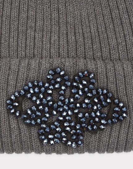 Bonnet gris anthracite détails bijou Tiare (2) - 1-2-3