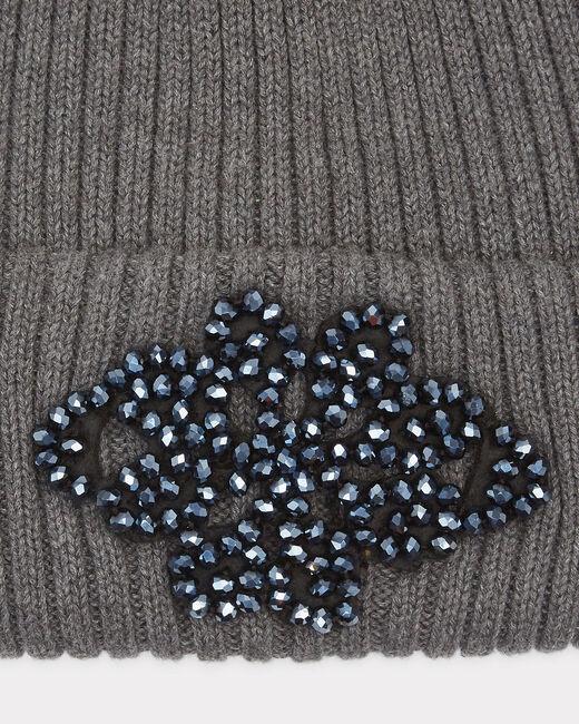 Bonnet gris anthracite détails bijou Tiare (1) - 1-2-3
