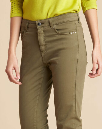 Vendôme slim cut standard size khaki jeans kaki.