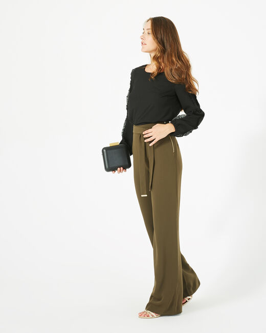 Voyou tailored khaki trousers with belt (2) - 1-2-3