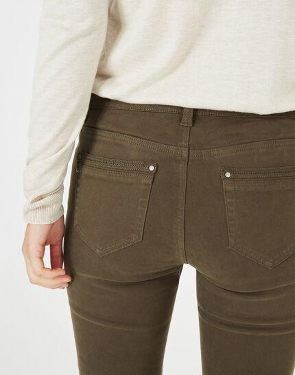 Pantalon 7/8ème kaki satin Pia (4) - 1-2-3
