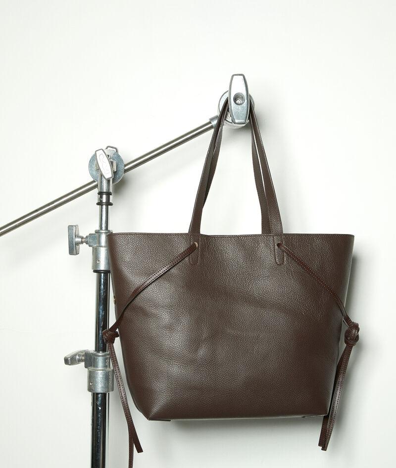 Shopper-Tasche aus weichem Leder braun Mary PhotoZ | 1-2-3