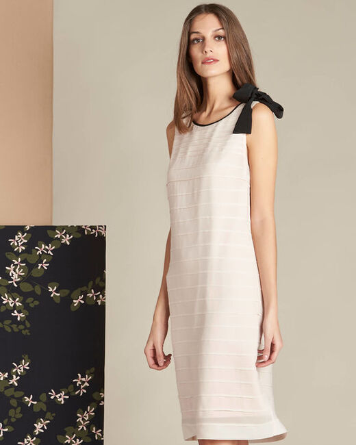 Ines silk pale pink dress with frilled detailing (1) - 1-2-3