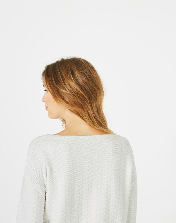 Pop ecru sweater with stunning stitchwork (3) - 1-2-3
