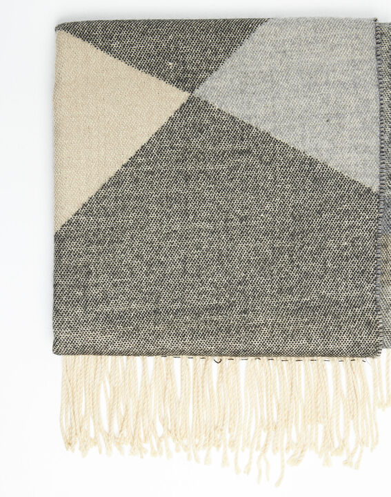 Festin nude check fringed scarf (2) - 1-2-3