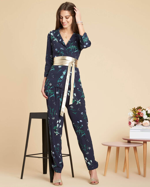Douglas navy printed flowing trousers (1) - 1-2-3