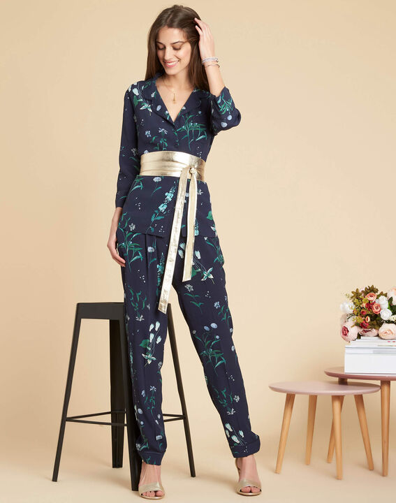 Douglas navy printed flowing trousers (2) - 1-2-3