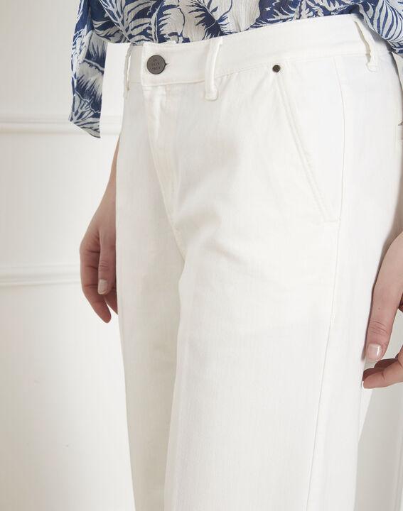 Kurze Jeans, ecrufarben, ausgestellt Carla (3) - Maison 123