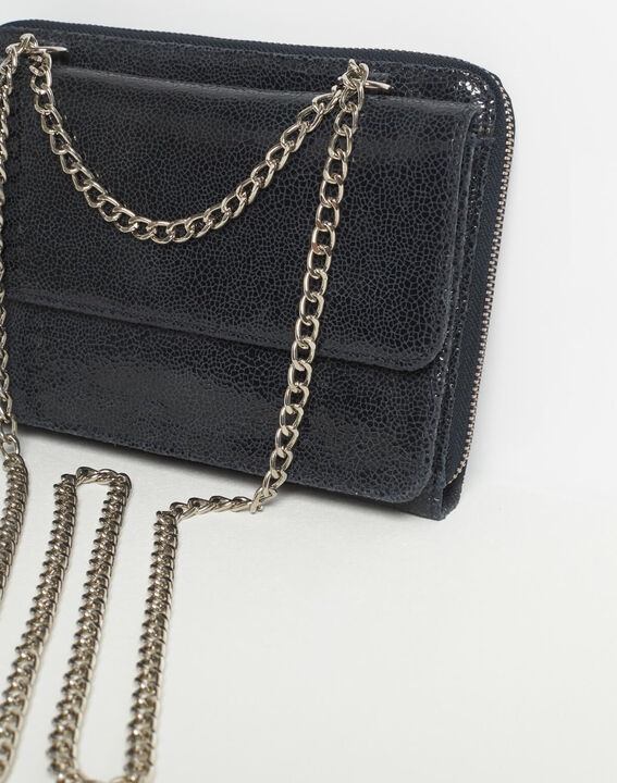 Darling navy blue leather bag with chain (4) - 1-2-3