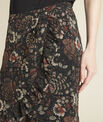Anis black skirt with floral print PhotoZ | 1-2-3