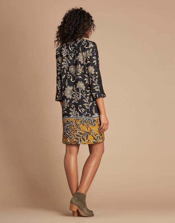 Petunia camel floral print dress (3) - 1-2-3