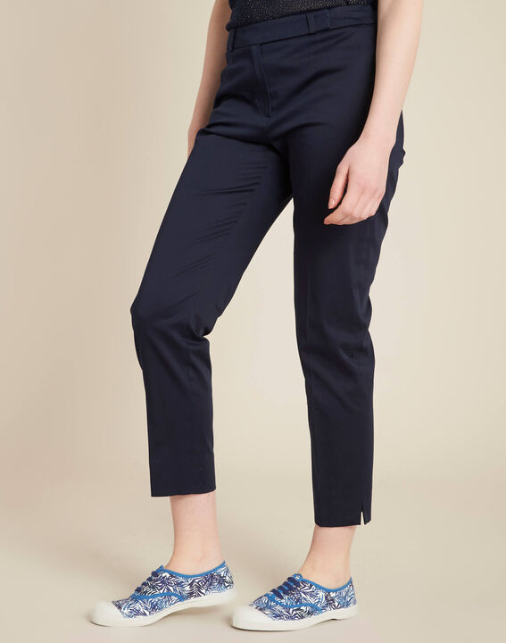 Rubis ⅞-length navy trousers (3) - 1-2-3