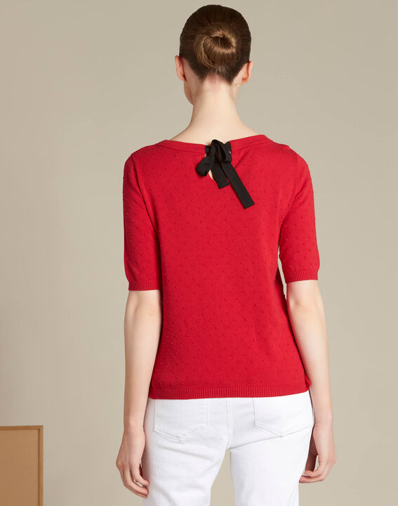 Nadia red sweater with bow on the back (4) - 1-2-3