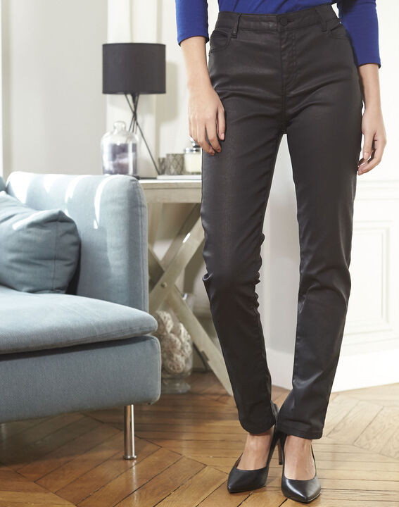 Schwarze beschichtete 7/8-Jeans Vendome (2) - 1-2-3
