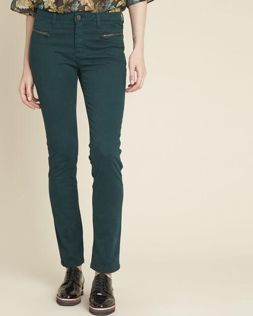 Jean vert foncé droit poches zippées Germain (1) - 1-2-3