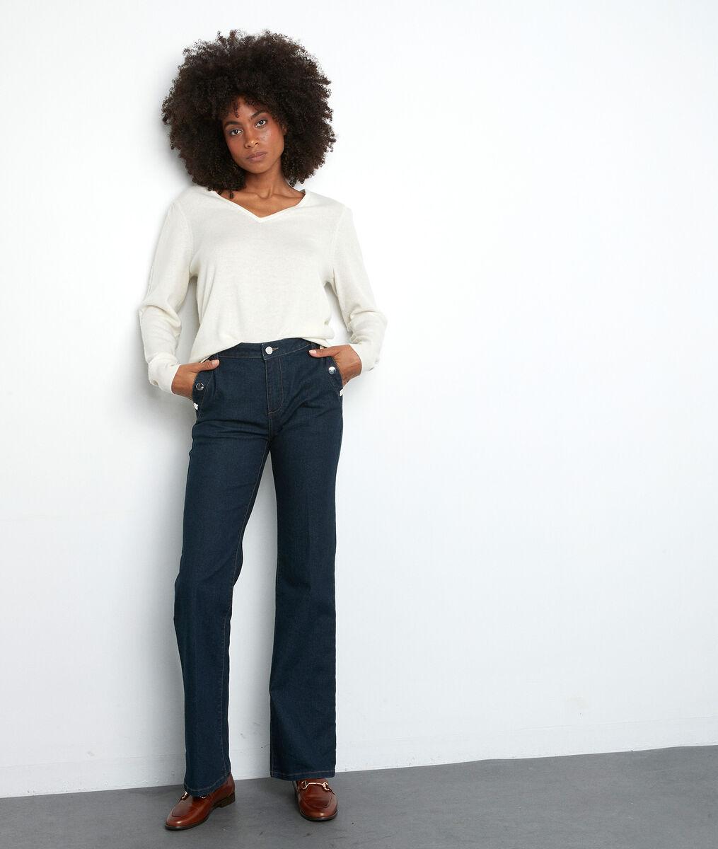Flared jeans van ruwe denim Ninon PhotoZ   1-2-3