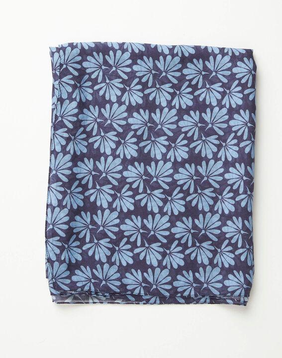 Blaues Halstuch mit Blumenprint Annick (2) - 1-2-3