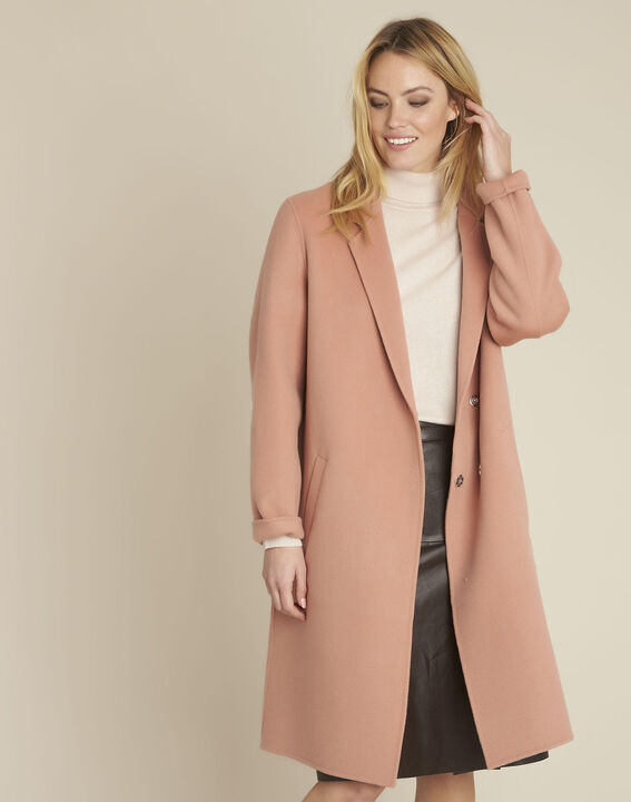 Edgar long pink coat with press-stud buttons PhotoZ | 1-2-3