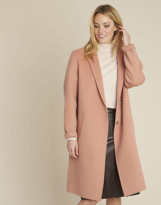 Rosa langer Mantel mit Druckknöpfen Edgar PhotoZ | 1-2-3