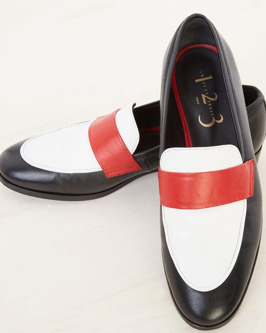 Nolan black leather moccasins (2) - 1-2-3
