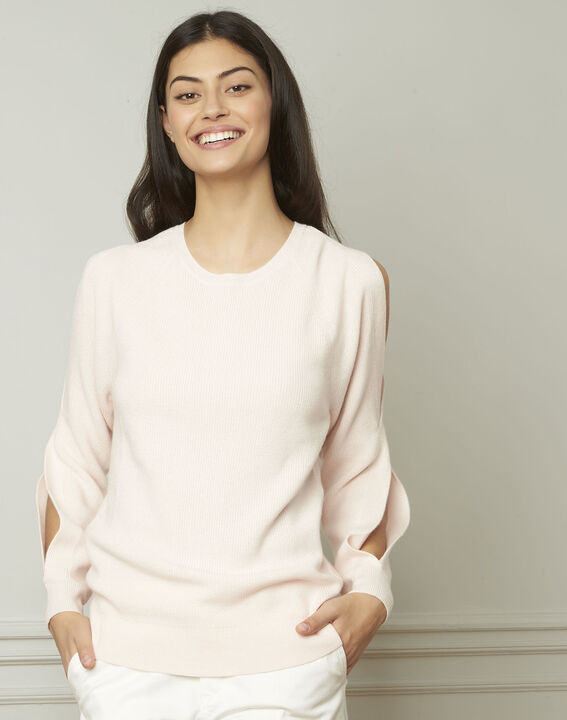 Airelle powder-coloured cold-shoulder pullover PhotoZ | 1-2-3