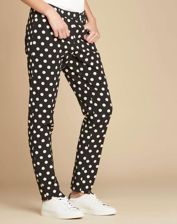 Valero polka dot tapered trousers (3) - 1-2-3
