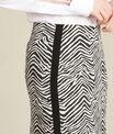 Jupe droite imprimé zèbre et bande latérale Lisa PhotoZ | 1-2-3