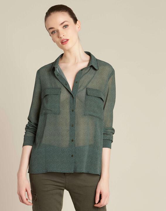 Davis circle print khaki shirt (3) - 1-2-3