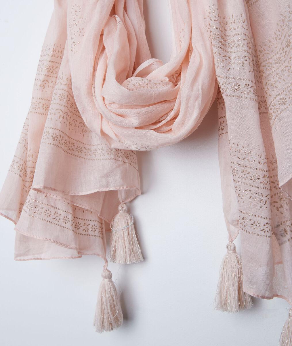 Foulard rose à franges Bella PhotoZ | 1-2-3