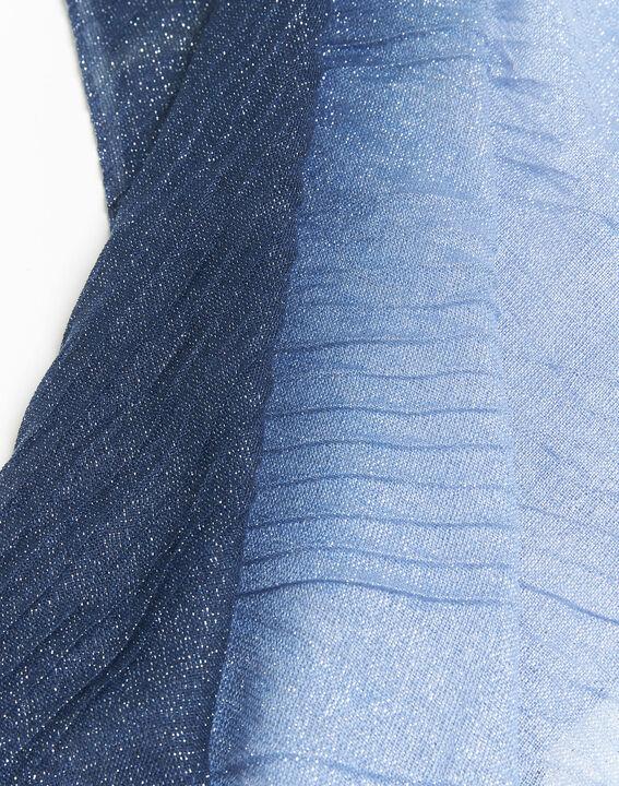 Donkerblauwe iriserende sjaal French (2) - 37653