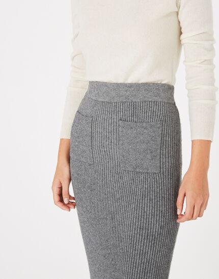 Flume long knitted skirt (3) - 1-2-3
