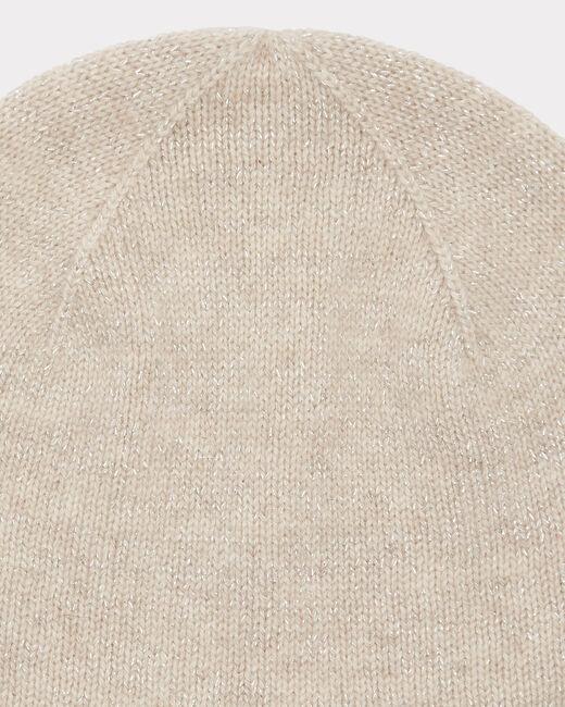 Bonnet beige brillant en cachemire Tilleul bis (2) - 1-2-3