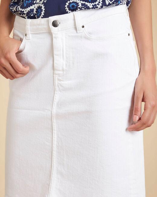 Jupe blanche en jean Lola (2) - 1-2-3