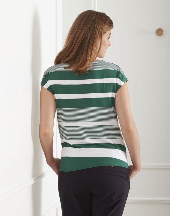 Tee-shirt vert rayé Port-au-Prince (3) - Maison 123