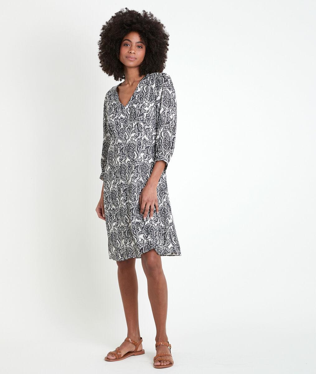 Robe imprimé cachemire Claudiane PhotoZ | 1-2-3