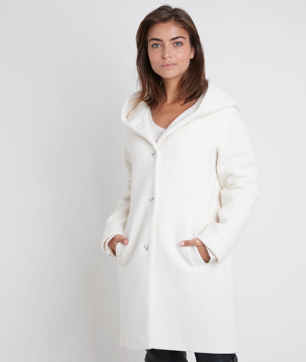 Manteau en laine mélangé crème Ocea PhotoZ | 1-2-3