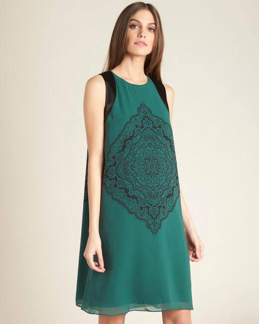Hellgrünes Print-Kleid Pérou (2) - 1-2-3