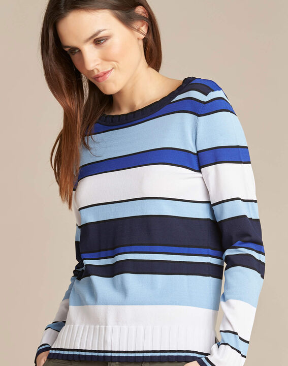 Newave blue striped sweater PhotoZ | 1-2-3