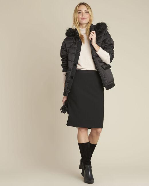 Doudoune noire courte capuche Patty (1) - 1-2-3