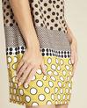 Gele jurk met stippenprint Dakota (3) - 37653