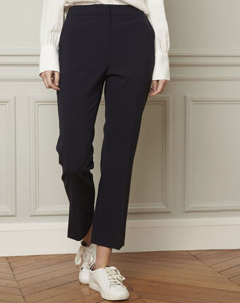 Gaston flared navy trousers navy.