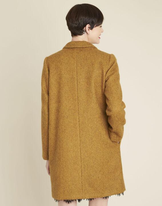 Safrangelber Mantel aus Kochwolle Erica (4) - 1-2-3