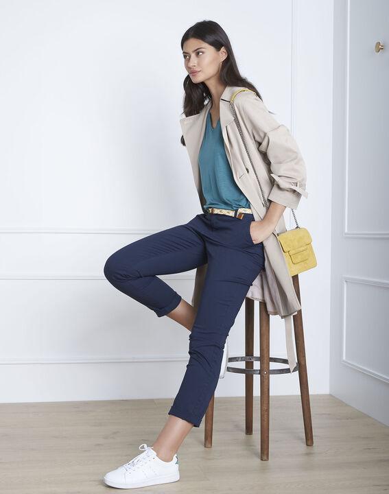 Pantalon marine chino ceinture fantaisie Francis (1) - Maison 123