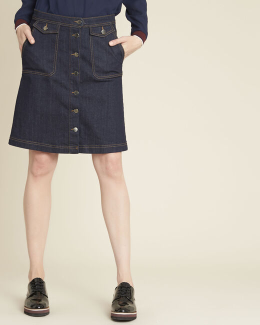Ambre denim skirt with buttons on the front (2) - 1-2-3