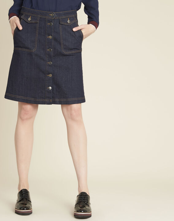 Ambre denim skirt with buttons on the front PhotoZ | 1-2-3