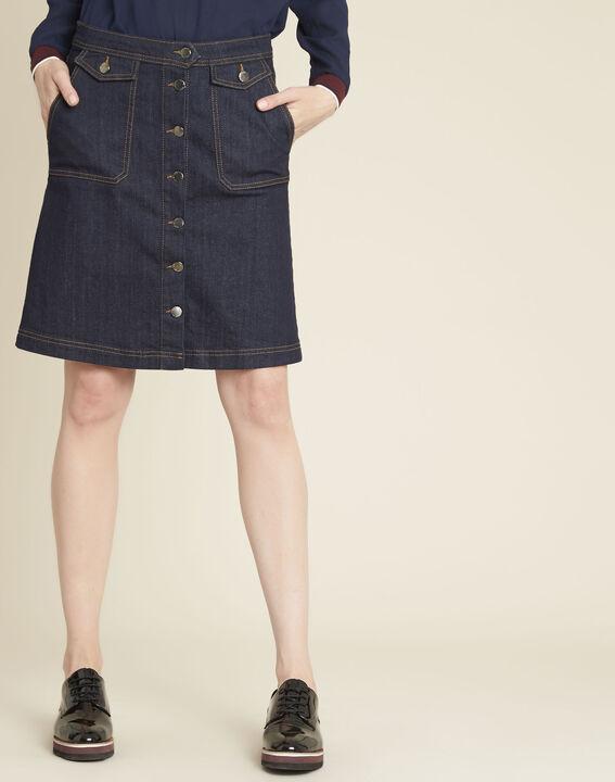 Jupe en jean boutonnage devant Ambre PhotoZ | 1-2-3
