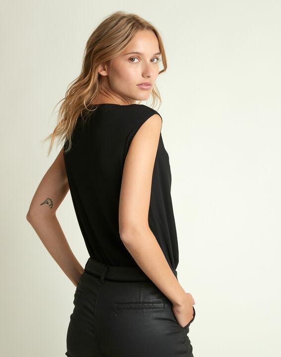 Zwarte blouse met V-hals Neptune (4) - 37653
