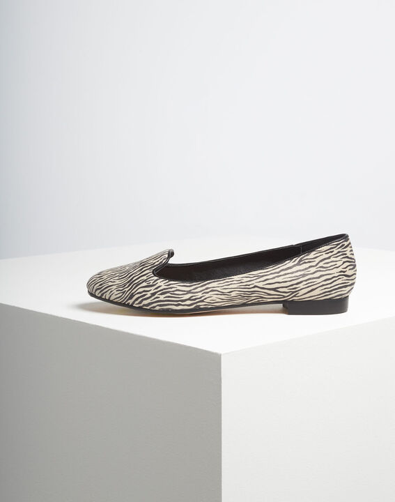 Kim leather zebra print ballerina pumps (4) - 1-2-3