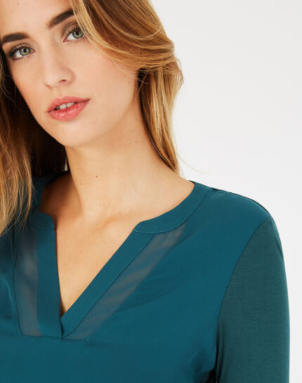 <br />Bianca forest green T-shirt with 3/4 length sleeves (2) - 1-2-3